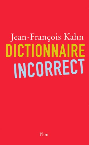 Dictionnaire incorrect (1)