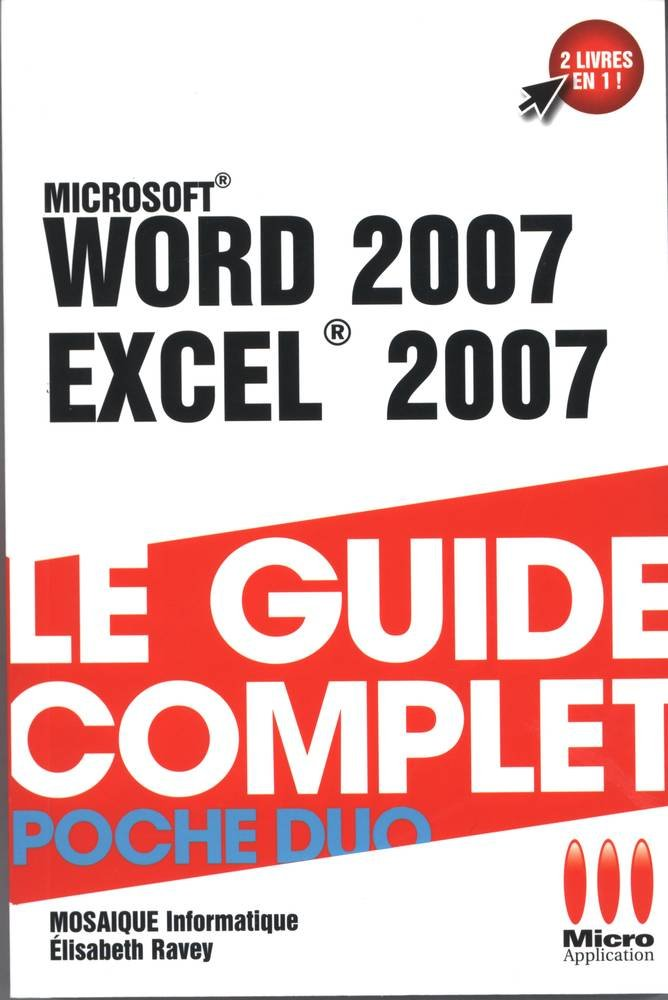 COMPLET POCHE DUO WORD 2007 EXCEL 2007
